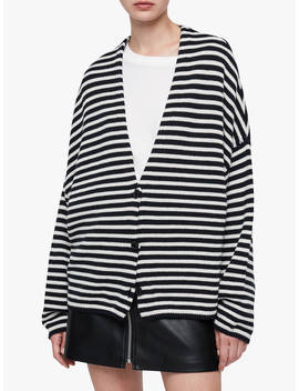 All Saints Marcel Cardigan, Ink Navy/Ecru White by All Saints