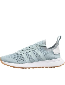 Adidas Originals Womens Flashback Primeknit Trainers Tactile Green/Tactile Green/Footwear White by Mand M Direct