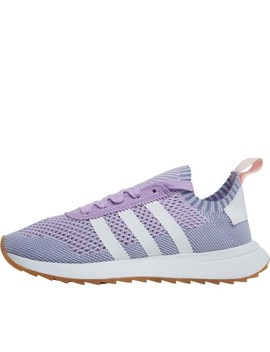 Adidas Originals Womens Flashback Primeknit Trainers Purple Glow/Footwear White/Tactile Blue by Mand M Direct