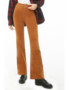 Zip Fly Corduroy Pants by Forever 21
