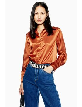 Satin Shirt by Topshop