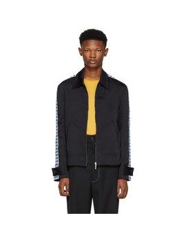 Navy Classic Tape Zip Jacket by Wales Bonner