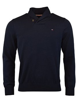 Tommy Hilfiger Mens Springfield Knit Ribbed Trim Shawl Collar Sweater by Tommy+Hilfiger