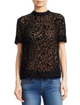 Gia Leopard Print Burnout Velvet Tee by Rag & Bone