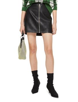 Penelope Faux Leather Mini Skirt by Topshop