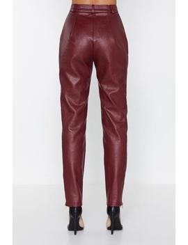 Hop Zip And A Jump Faux Leather Pants by Nasty Gal