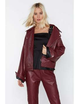 Ride Faux Leather Moto Jacket by Nasty Gal