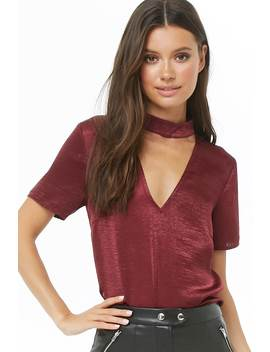 Satin Cutout Top by Forever 21