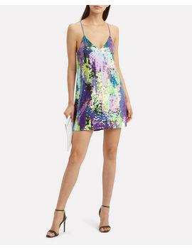 Pastel Sequin Slip Mini Dress by Fleur Du Mal