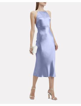 Lullaby Blue Satin Apron Dress by Jason Wu