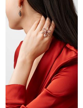 Sadie Flower Rose Gold Dipped Quartz Ring by Larkspur & Hawk