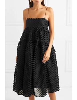 Sofie Tie Back Fil Coupé Silk Midi Dress by Cecilie Bahnsen