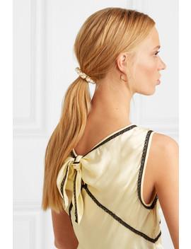 Perla Gold Plated Swarovksi Pearl Hair Tie by Jennifer Behr