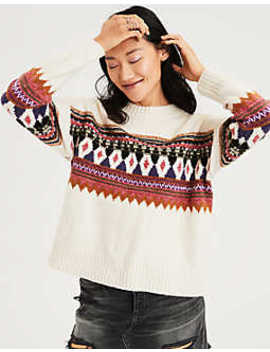 Ae Pattern Pullover Sweater by American Eagle Outfitters