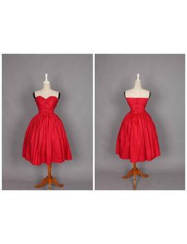 Mitzi Dress In Solid Cardinal Red by Etsy