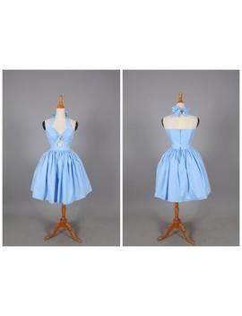 Dolly Dress In Solid Cinderella Blue by Etsy