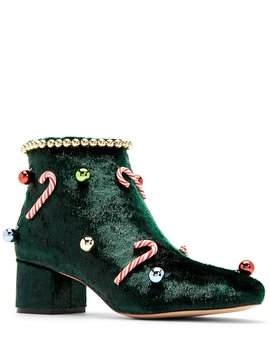 The Caine Holiday Tinsel Garland Booties by Katy Perry