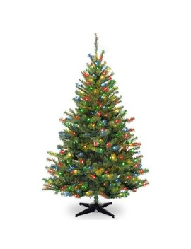 Ebern Designs 6' Green Spruce Trees Artificial Christmas Tree With 400 Incandescent Multi Colored Lights & Reviews by Ebern Designs