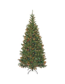 National Tree Co. Aspen Hinged Green Spruce Artificial Christmas Tree With Multi Colored Lights With Stand & Reviews by National Tree Co.
