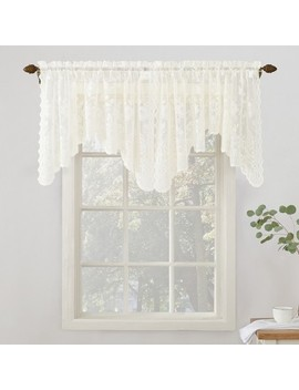 No. 918 Alison Floral Sheer Lace Rod Pocket Curtain Panel by Shop This Collection