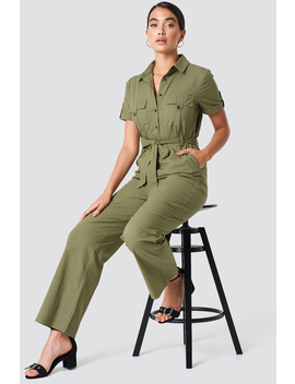 Shirt Tie Waist Jumpsuit by Na Kd Trend
