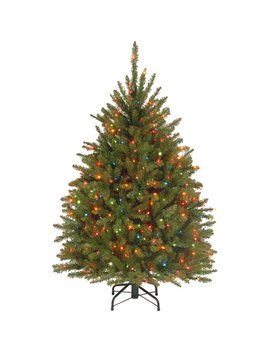 Andover Mills 4.5' Hinged Green Artificial Christmas Tree With 450 Multicolored Lights & Reviews by Andover Mills