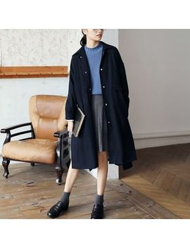 Dreamount   Long Pocket Detail Buttoned Coat by Dreamount