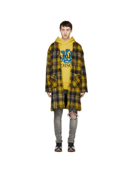 Yellow Mohair Cardigan Coat by Amiri
