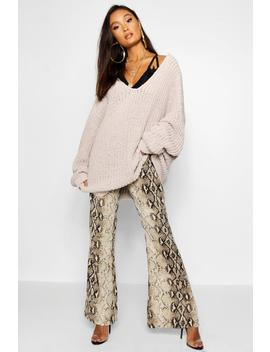 Oversized Chenille Boyfriend Jumper by Boohoo
