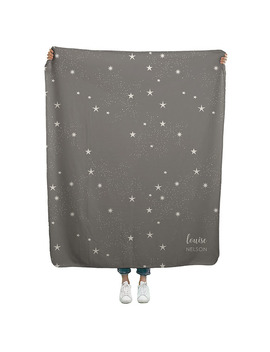 Starry Sky   Sherpa Throw by Erin Condren