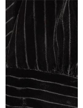 Striped Devoré Velvet Top by Frame