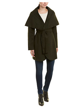 Tahari Maria Belted Wool Blend Coat by Tahari