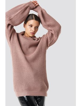High Neck Oversized Knitted Sweater by Na Kd