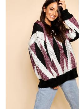 Premium Metallic Tinsel Knitted Jumper by Boohoo