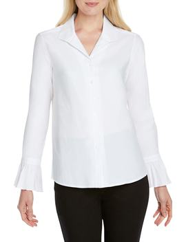 Alba Stretch Cotton Blend Blouse by Foxcroft