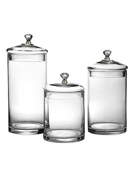 Glass Canisters With Golden Knobs (Set Of 3) by Bed Bath And Beyond