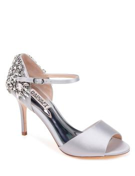 Harbor Crystal Embellished Open Toe Pump by Badgley Mischka