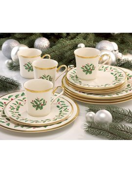 Lenox Holiday 12 Piece Dinnerware Set, Service For 4 & Reviews by Lenox