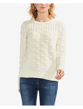 Cotton Textured Popcorn Stitch Sweater by Vince Camuto