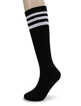 Eleray Classic Triple Stripes Soft Cotton Knee High Tube Socks by Eleray