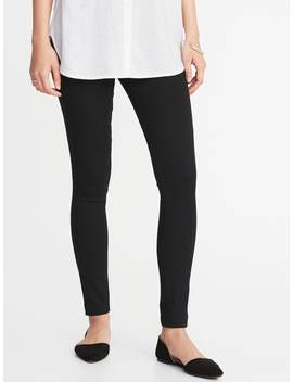 Super Skinny Black Pull On Jeggings For Women by Old Navy