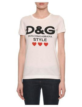 Dg Style Short Sleeve Crewneck T Shirt by Dolce & Gabbana