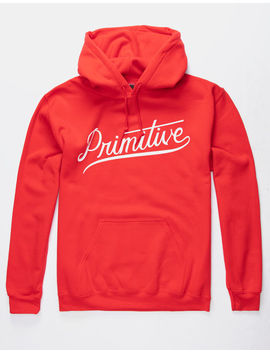 Primitive Murray Script Red Mens Hoodie by Primitive