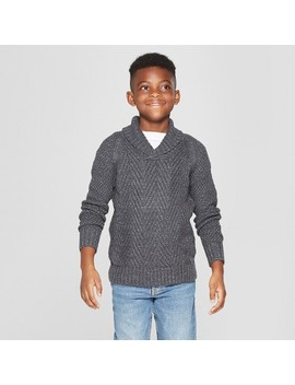 Boys' Long Sleeve Pullover Sweater   Cat & Jack™ Charcoal Gray by Cat & Jack™