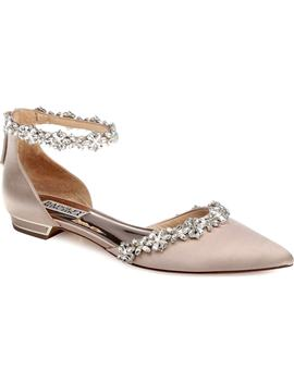 Vivien Crystal Embellished Open Flat by Badgley Mischka