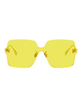 Yellow Dior Color Quake1 Sunglasses by Dior