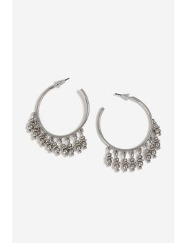 **Ball Fringe Hoop Earrings by Topshop