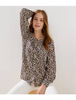Leopard Print Blouse by Loft
