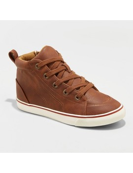Boys' Florian Mid Top Sneakers   Cat & Jack™ Tan by Cat & Jack™