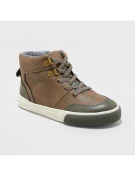 Boys' Henre Mid Top Casual Sneakers   Cat & Jack™ Brown by Cat & Jack™